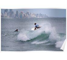 Getting Air - Burleigh Heads - Australia  Poster
