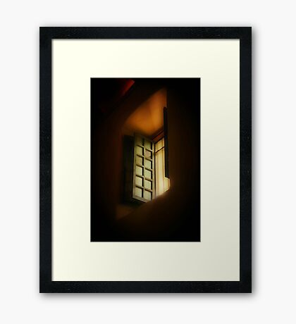 Light in the Sanctuary Framed Print