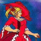 «Dama bajo la luna» de cerberus-naoto