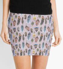 Watercolour Boho Feathers Mini Skirt