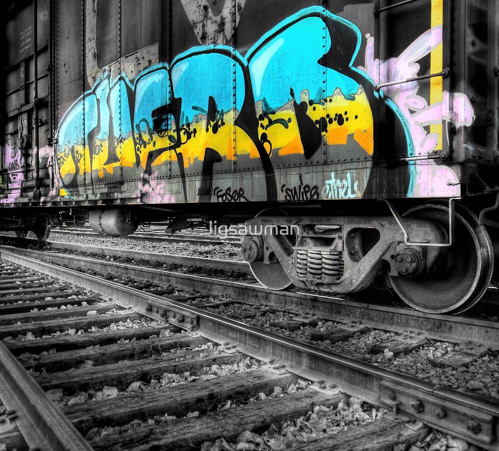 Railcar Graffiti by Jigsawman