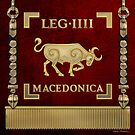 Standard of the Macedonian Fourth Legion - Vexilloid of Legio IV Macedonica by Serge Averbukh