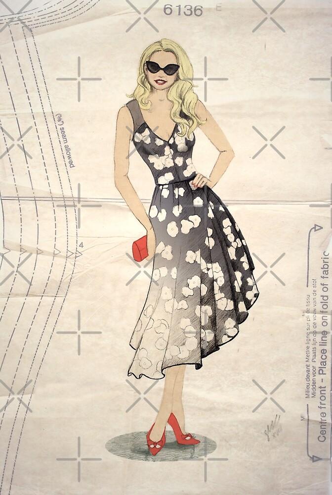 Old Hollywood Glam by Sarah  Mac Illustration