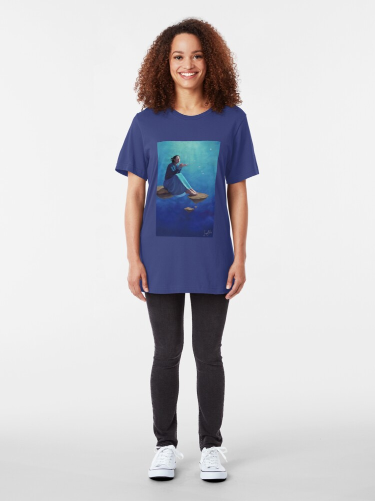 Alternate view of Thoughts Like Rose Petals Slim Fit T-Shirt