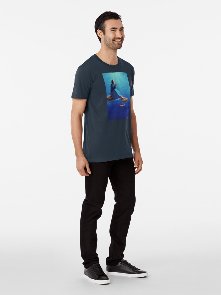 Alternate view of Thoughts Like Rose Petals Premium T-Shirt