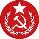 Distressed Round Communist Flag by Chocodole