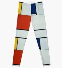 Legging Piet Mondrian, Arte Abstracto, Famoso Europeo
