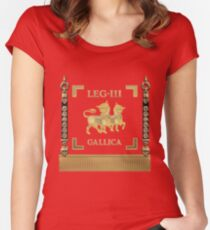 Standard of the Gallic Third Roman Legion - Vexilloid of Legio III Gallica Women's Fitted Scoop T-Shirt