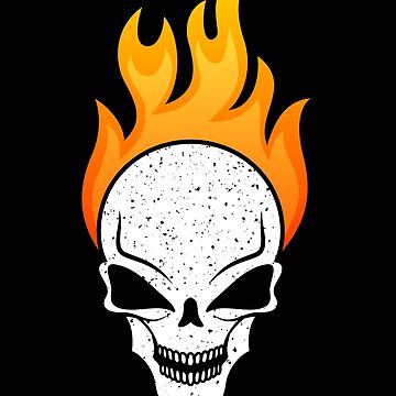 Badass Flaming Skull for Bikers and Gamers by mrhighsky