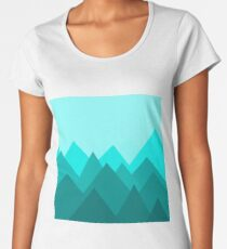 Simple Mountains Women's Premium T-Shirt