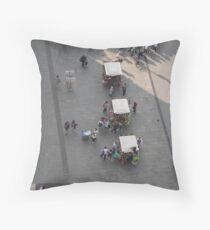Market Stalls, Krakow, Poland Throw Pillow