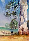 Gum Tree Lane - Australian Kelpie Series by Pieter Zaadstra