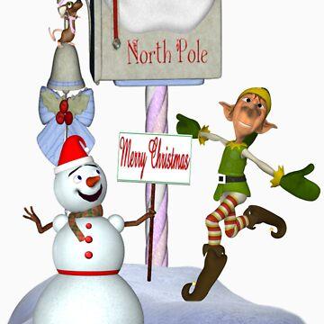 Joyful Greetings .. christmas tee by LoneAngel