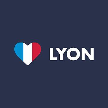 Lyon France Flag Heart by lukassfr