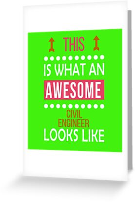 Civil Engineer Awesome Looks Funny Birthday Christmas