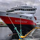 Moored at Trondheim by Larry Davis