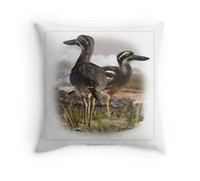 BEACH THICK-KNEE #2 Throw Pillow