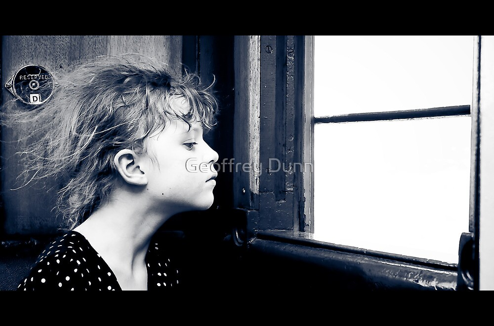 ...from where she sat the world was but a blur... by Geoffrey Dunn