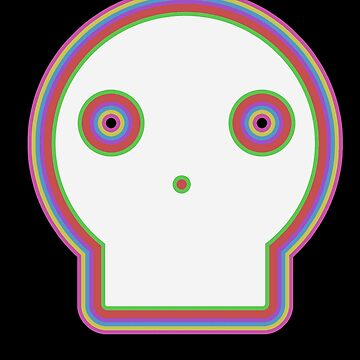 Skull Cartoon -Multicoloured by Rebellion-10