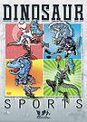 Dinosaur Baseball Football Hockey Basketball by MudgeStudios