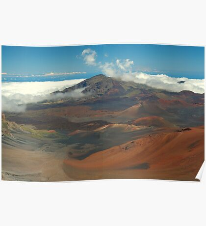 Haleakala Volcano and Lava Field, Maui, Hawaii Poster