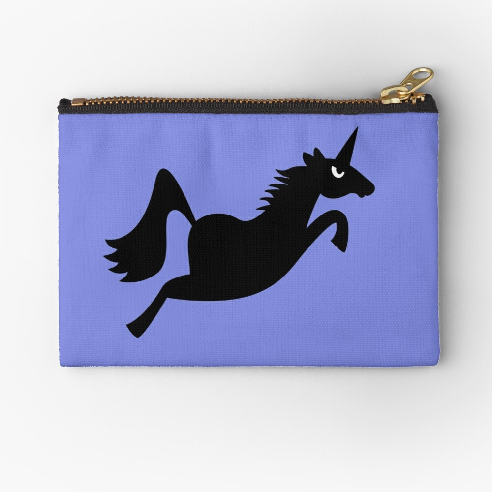 Angry Animals: Unicorn Zipper Pouch