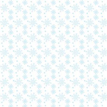 Snowflakes - Sky blue snowflakes pattern by mcb-jp