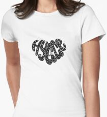 Hygge heart  Women's Fitted T-Shirt