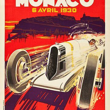 1930 Monaco Grand Prix Poster by CJAnderson