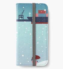 Hamburg im Winter iPhone Flip-Case/Hülle/Skin