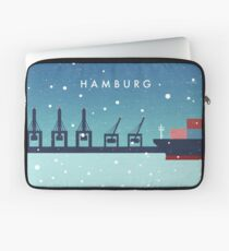 Hamburg im Winter Laptoptasche