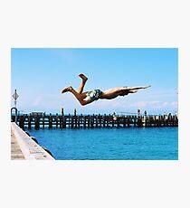 Portsea Pier Dive Photographic Print