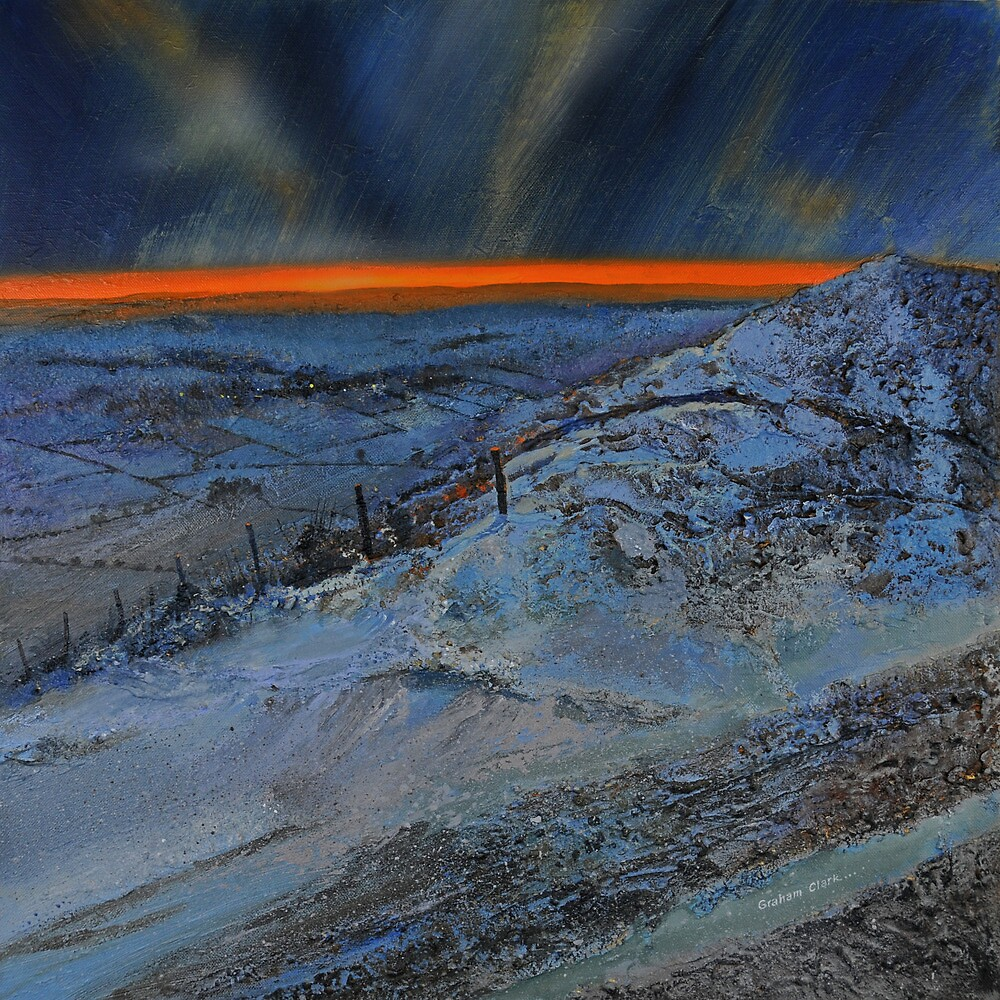 Snow at dusk on the Dales by Graham Clark