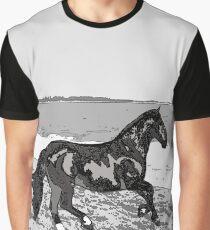 Caballo Chileno (Equus ferus caballus) am Strand Grafik T-Shirt