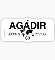 Agadir Prefecture with World Map Coordinates GPS   Sticker