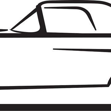 1955 Ford Thunderbird by azoid