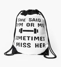 GYM OR ME Drawstring Bag