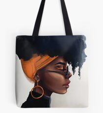 Girl with an orange earring Tote Bag