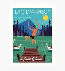 Lac D'Annecy poster Art Print