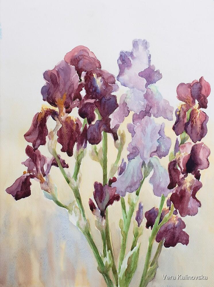 Irises by Vira Kalinovska