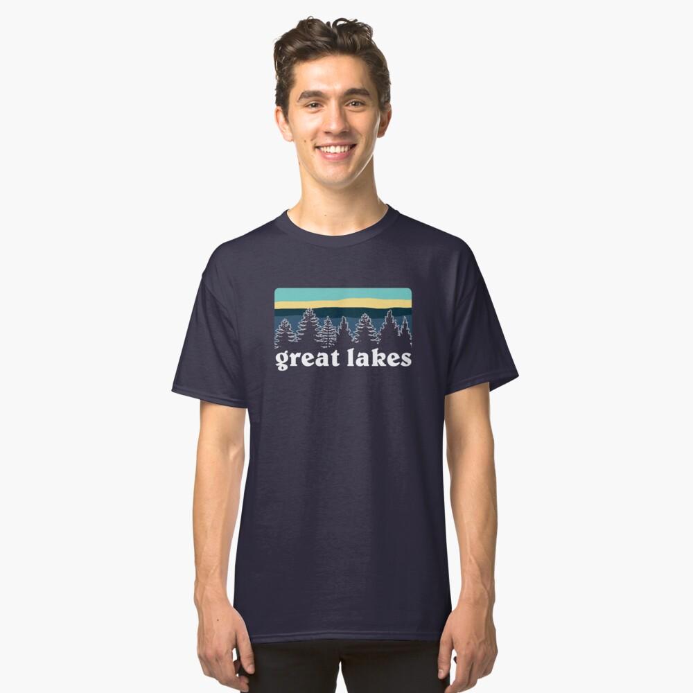 Grandes Lagos Vibes Camiseta clásica