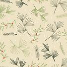 «ramas de pino y bayas» de Stacey Oldham