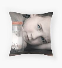A Boy and His Spider Throw Pillow