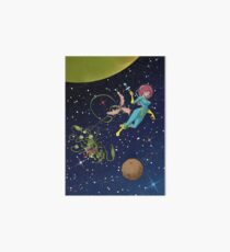 Astro Girl Art Board