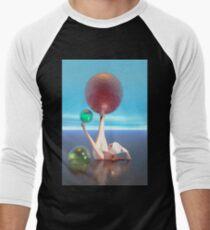 Bañista con esferas de colores Baseball ¾ Sleeve T-Shirt
