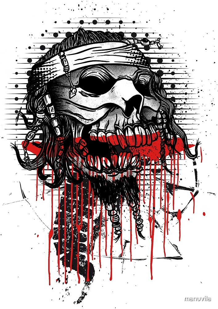 «calavera pirata» de manuvila