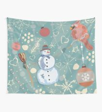 Snowman Wall Tapestry