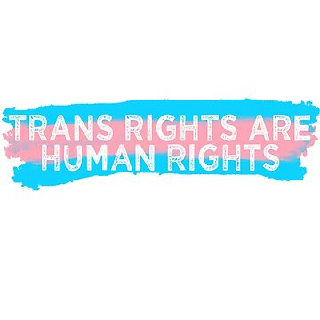 Trans Rights Are Human Rights Trans Flag Transgender Rights by Tinkery