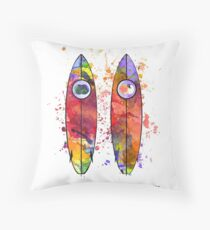 Surfboards Throw Pillow