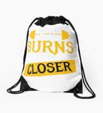 burns closer Drawstring Bag